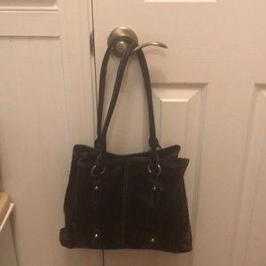 Merona Dark Brown Faux Leather Handbag.